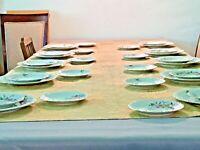 Wawel Poland  Vintage Dinnerware Setting China Pink Floral WAVHAD Harvest Dawn