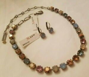 """NWT~ Mariana Jewelry """"Rhapsode"""" 2 piece Round Crystal Necklace and Earrings Set"""
