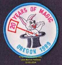 LMH PATCH Badge  1989 GOOD SAM CLUB SAMBOREE  20 Years Magic OR Rabbit Hat Trick