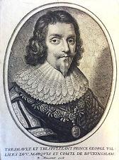 Prince George Villiers duc marquis comte de Buckingham Moncornet 1628 XVII ème