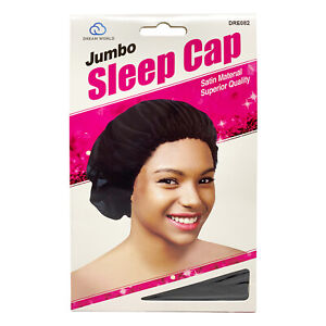 Silk Night Sleep Cap Hair Bonnet Hat Head Cover Satin Wide Band Large Jumbo Size