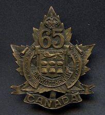 WW1 65 Battalion 'Saskatchewan' Overseas Cap Badge