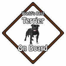 Non Personalised Dog On Board Car Safety Sign - World's Best Bull Terrier