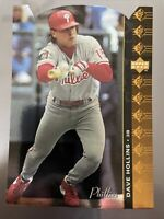 1994 SP Die-cut Dave Hollins #136 Philadelphia Phillies Rare SP Insert