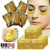 60/100Pcs Gold Hydrogel Eye Patch Firming Eye Mask Collagen Gel Under Eye Pads
