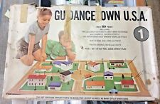 VINTAGE 1963 GUIDANCETOWN U.S.A. #503 - PLAYSET WITH MAT - VERY CLEAN - USED