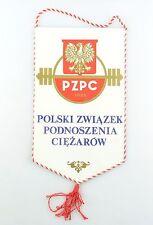 #e6367 Original Old pennant from Poland Polski zwiazek podnoszenia ciezarow 1925
