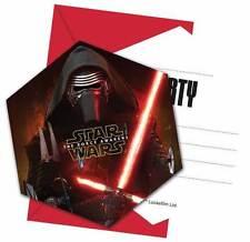 Star Wars VII 6 Einladungen mit Umschlag Einladungskarten Einladung Karten Party