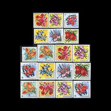 Burundi, Sc #411-21,C168-74, LH, 1972, Flower, Flora, 18 stamps, Clp. , CL106F