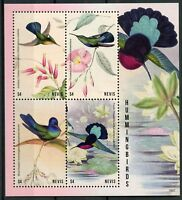 Nevis 2018 MNH Hummingbirds Carib Hummingbird 4v M/S Birds Stamps