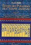Textes des Pyramides de l'Egypt Ancienne, Tome V: Textes de tombes de particulie