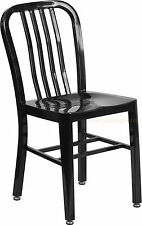 MID-CENTURY BLACK 'NAVY' STYLE DINING CHAIR CAFE RESTAURANT IN-OUTDOOR 500 LBS!