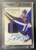 2018 Immaculate Acetate Lamar Jackson RPA RC Rookie Patch AUTO 15/99 VERY RARE🔥