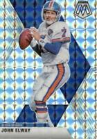 John Elway 2020 Mosaic Silver Mosaic Prizm Football Card Denver Broncos #67
