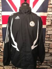 DERBY COUNTY - ADIDAS TRAINING  JACKET & HOOD  (36-38) - VGC - SEE MEASUREMENTS