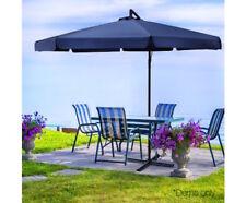 Umbrella Patio Pool Market Garden Beach Sun Shade Outdoor BBQ 3m Navy