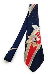 LEONARD PARIS Tie Floral Fish Sea Shell Vintage Mod GOGO 1960s Necktie