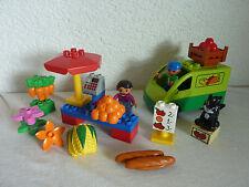 Lego Duplo mercado stand-set 5683-Fruit & cancías Market Place-completamente & top!