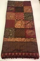 Table Runner Multi Color Elegant Patches Heavy Thick With Beads 15X68 inches