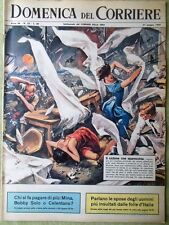 La Domenica del Corriere 21 Giugno 1964 Normandia Roulette Uragano Mina Roma Tv