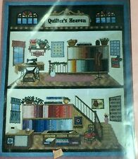 QUILTER'S HEAVEN Silk Ribbon Embroidery Quilt Pattern Fabric Singer Sewing Room