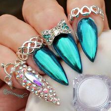 Shiny Blue Nail Mirror Powder Dust Pearl Nail Art Chrome Pigment Decoration 1g