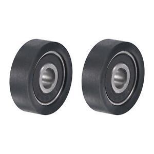 2 x Führungsrolle Rad Flache Nut 5mm Wellen loch 20mm Durchmesser Für Schiebetür
