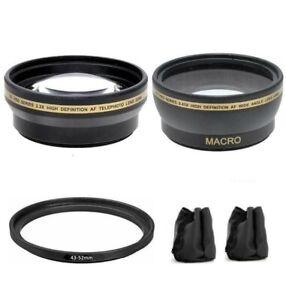 Lens Set For Samsung NX10 NX11 NX100 NX200 NX210 NX300 NX1000 w/16mm, 20mm, 30mm