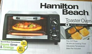 Hamilton Beach 4-Slice Toaster Oven 31144 Second Oven Convenience New Sealed Box