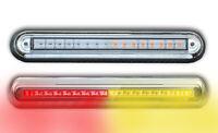 2 x E MARK LED REAR LIGHTS FLUSH MOUNT TAIL LAMPS TRUCK TRAILER TIPPER LORRY BUS