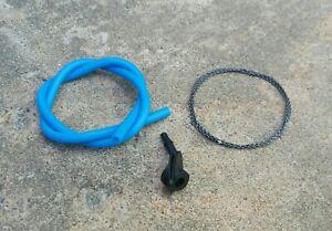 "Truglo 3/16"" Peep Sight w/Tubing Blue & 2' of Serving Thread"