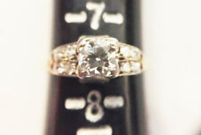 VINTAGE ROUND DIAMOND AND 14K GOLD ENGAGEMENT RING