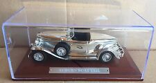 """DIE CAST """" AUBURN BOAT TAIL """" SILVER CARS COLLECTION ATLAS SCALA 1/43"""
