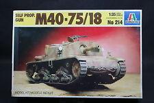 XU016 ITALERI 1/35 maquette tank char 214 Self Propelled Gun M40-75/18