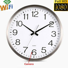 WiFi HD1080P Wall Clock Hidden IP Camera DVR Real-Time Video Nanny Camcorder *