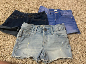 Lot Of 3 Justice Jean Shorts, Size 8