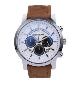 Montblanc Leather Strap Chronograph Quartz Watch