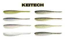 "Keitech Shad Impact Soft Jerkbait 4"" 8pk Bass Drop Shot Jerkbait Fishing Lure"
