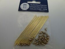 More details for dolls house hallway carpet miniature 1:12 scale brass 14 stair rods & 28 holders