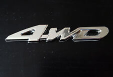 Silver Chrome 3D 4WD Metal Emblem Badge for Honda Accord Civic S2000 CRV HRV CRZ