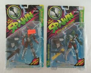 Spawn Action Figures Series 5 Nuclear Spawn + Variant McFarlane Toys 1996 MOC