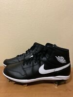 Men's Air Jordan 1 Retro Mid Baseball Cleats RARE AV5355-001 Size 10.5 Black
