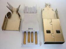 USB Stecker Steckverbinder Typ A gerade Konfektionsstecker 13,3mm Kabelstecker