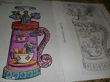 4 Lot Original Art Disney Dumbo Ride Wind Up Cup Topper Series Burgerking Figure