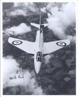 10x8 Hawker Hunter WB188 photo genuine signed RAF test pilot DUKE DSO DFC