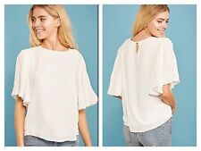 Darling @ Look Again Size 10 White Frill Sleeve Harmony Chiffon Overlay TOP £60