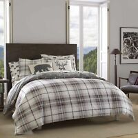 Eddie Bauer Alder Plaid Duvet Cover Set, Full/Queen, Charcoal