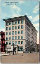 Aberdeen, South Dakota Postcard Citizen'S Bank Building Street View 1910 Cancel
