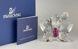 SWAROVSKI CRYSTAL ORCHID BLOSSOM FLOWER FIGURINE MINT IN BOX