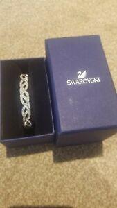 Stunning genuine Swarovski - silver crystal Bangle Bracelet